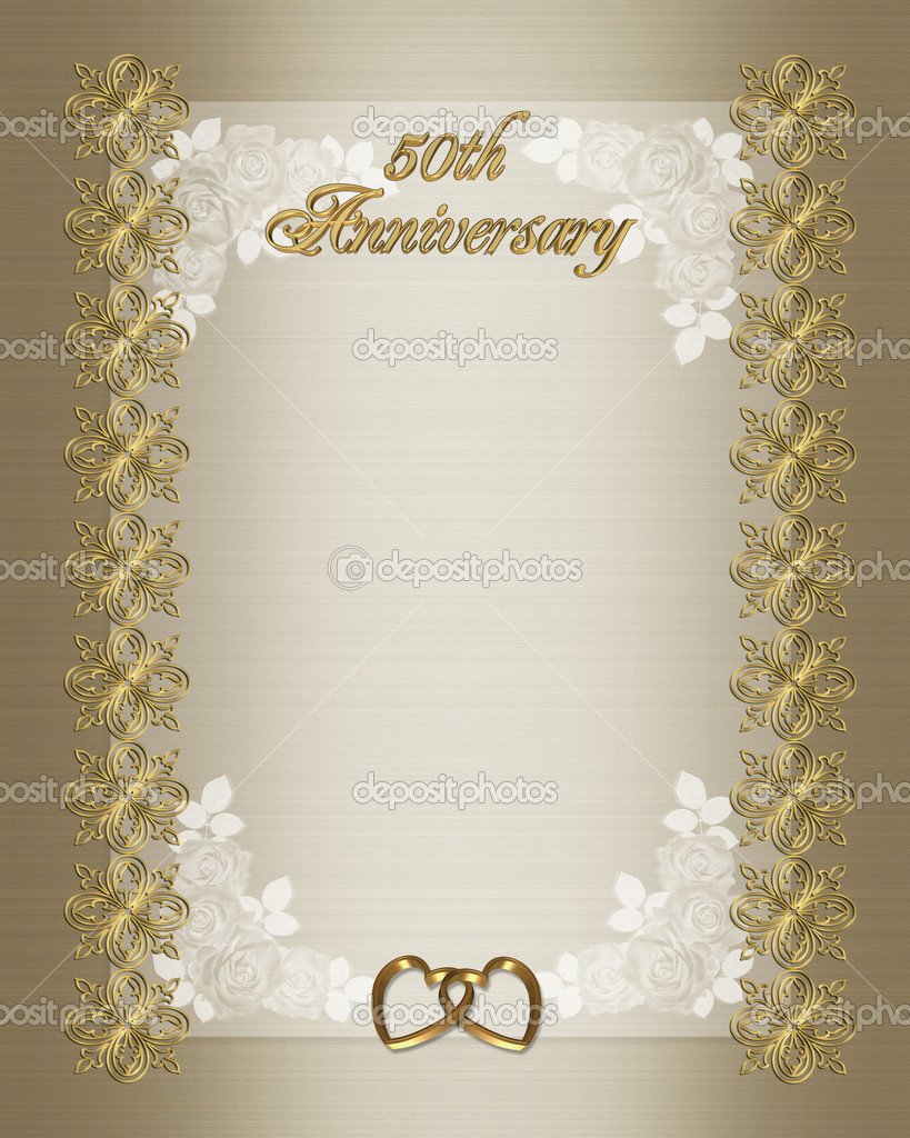 50th Wedding anniversary invitation temp — Stock Photo © Irisangel ...