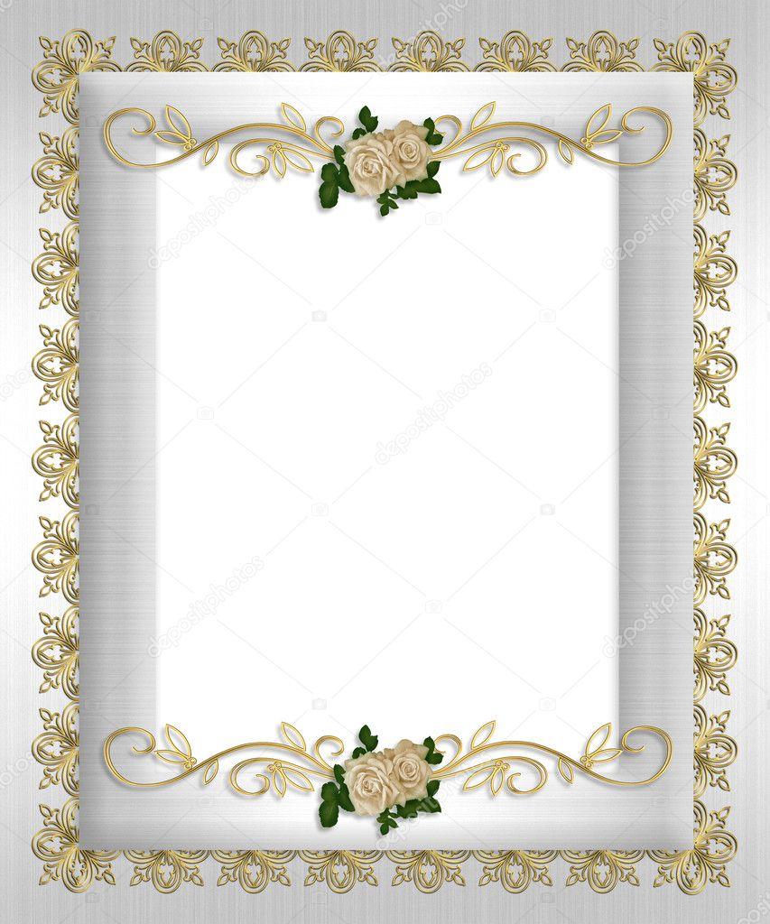 einladung weiße satin rosen — stockfoto #2513216, Einladung