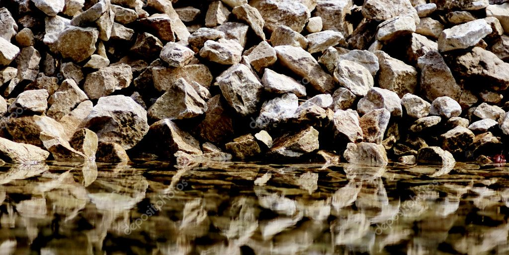Rocks with reflection
