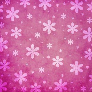 Grunge pink flower background