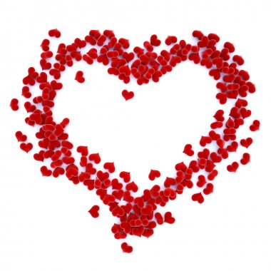 Hearts velvet lined as a symbol of the heart. with clipping path stock vector