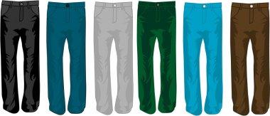 Pants color, illustration, vecor work