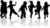 Fotografia per i bambini, bambini - sagome nere