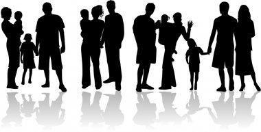Families - vector work stock vector