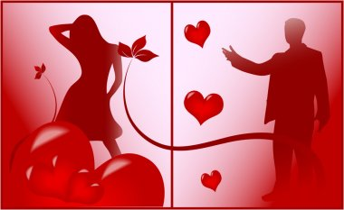 Romantic Scene of Love