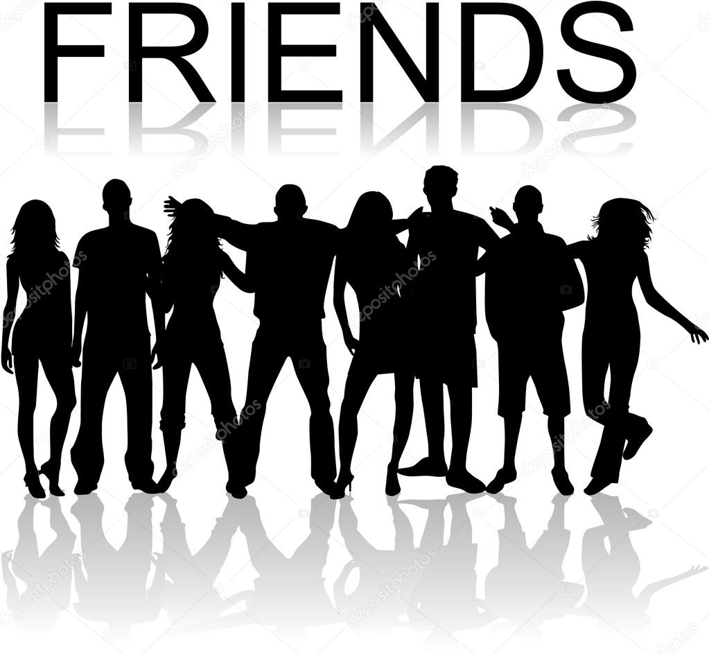 Friends Stock Vector C Pablonis 2558127 .photos it will not download all of your friends photos your friends photos if you want to save them you can only do 1 at a time go to each photo and right click and then click save as or if your using a. friends stock vector c pablonis 2558127