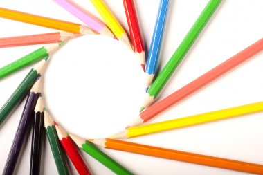 Colored Pencils circle