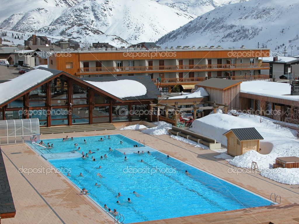 Winter swimming pool