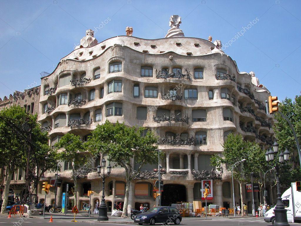 casa mila la pedrera building designed by antonio gaudi in barcelona spain u photo by stanislaw