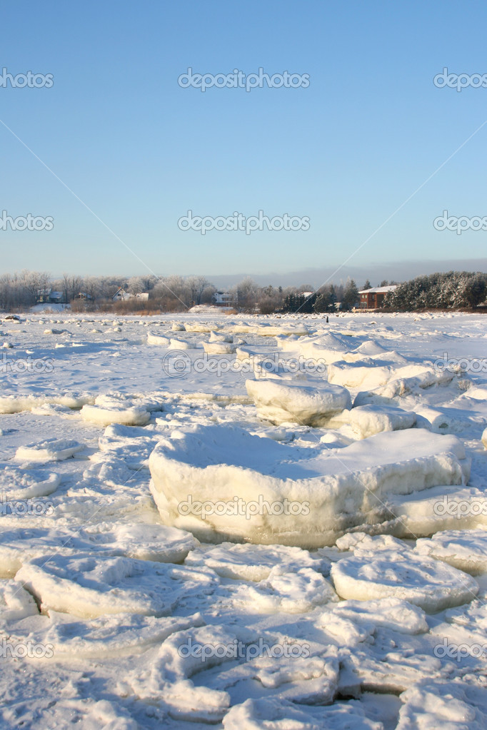 Winter landscape on Baltic Sea