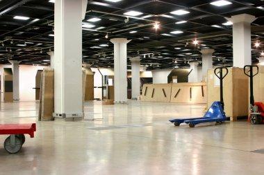 Empty exhibition hall underground