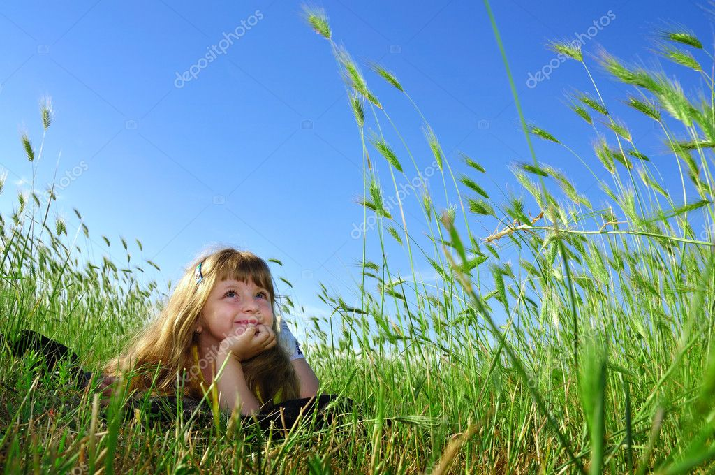 Summer dream in the grass