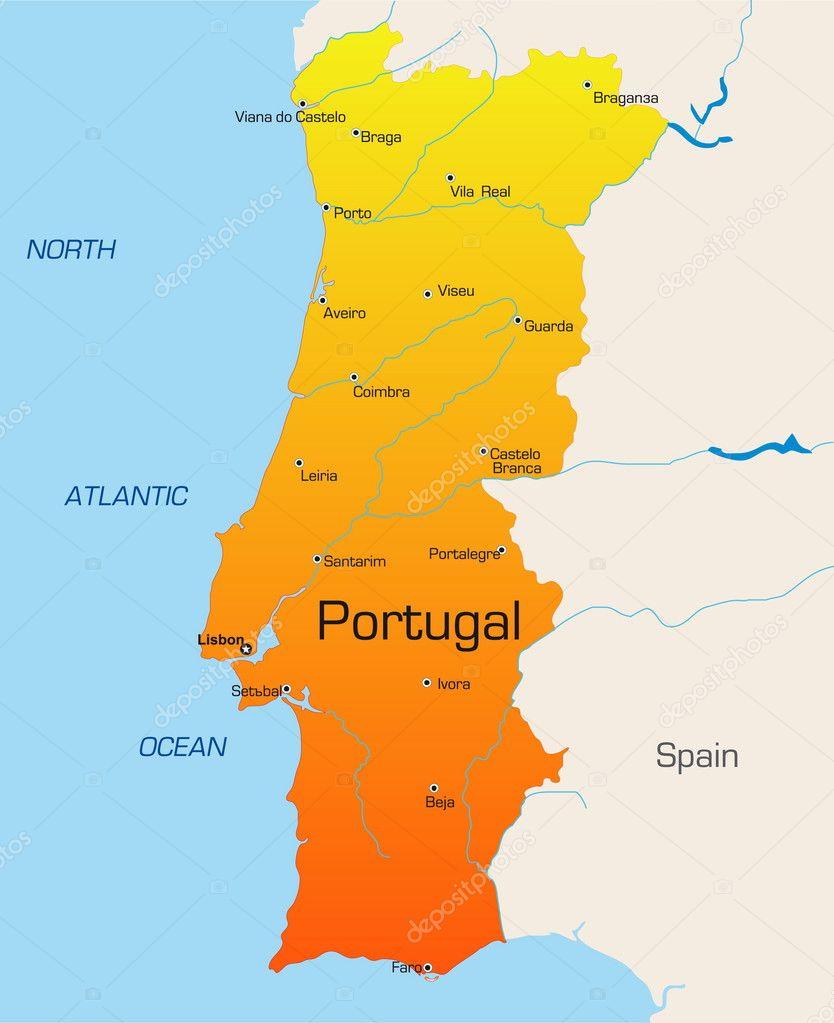 Mapa Portugal Vetores De Stock Ilustrações Vetoriais Free Mapa - Portugal mapa