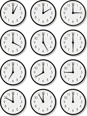 Vector clock faces