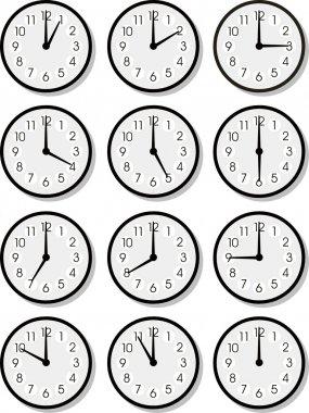 Vector clock faces