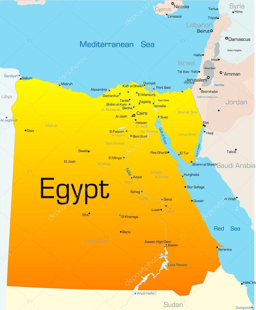 Mapa Del Antiguo Egipto Blanco Y Negro.ᐈ Egipto Ilustraciones Vector De Stock Imagenes Mapa De