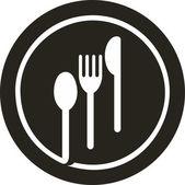 Fotografia piatto con la forchetta, coltello e cucchiaio