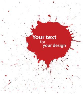 Grunge blood spot for your design
