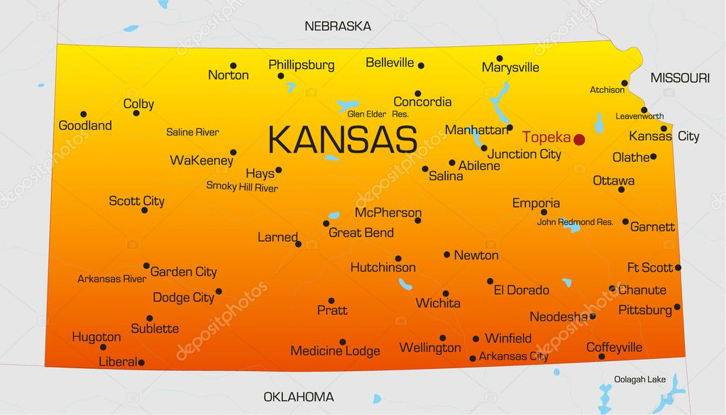 Kansas — Archivo Imágenes Vectoriales © olinchuk #2150180