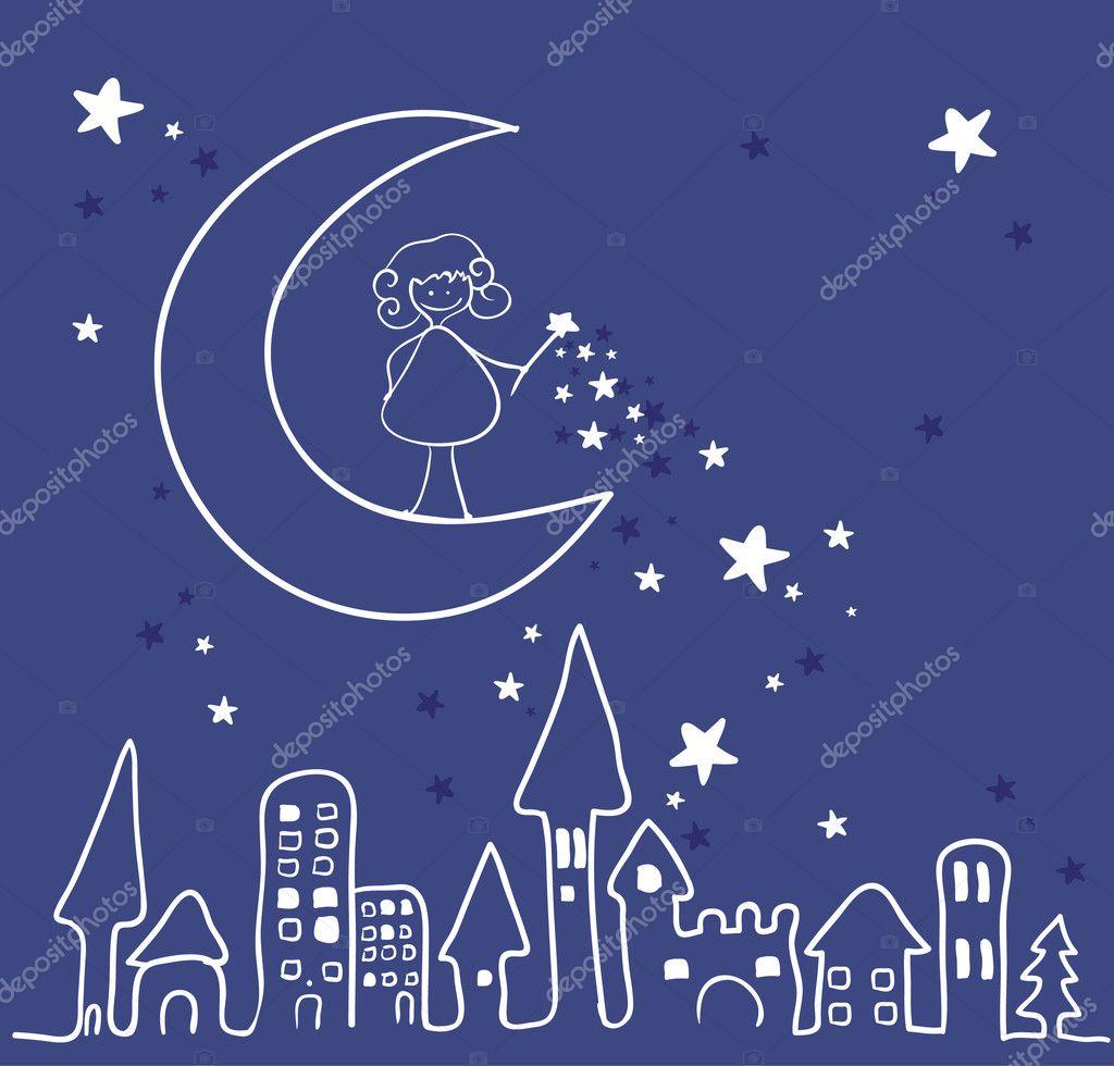 Notte Magica Immagini.Illustrazione Di Una Notte Magica Notte Magica