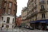 Paris downtown street view