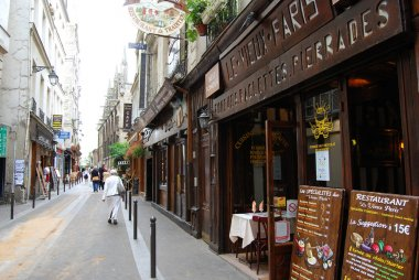 Street of Latin Quarter in Paris