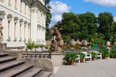 Royal garden and statues. Ludwigsburg, S