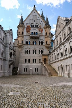 Neuschwanstein castle, inner court