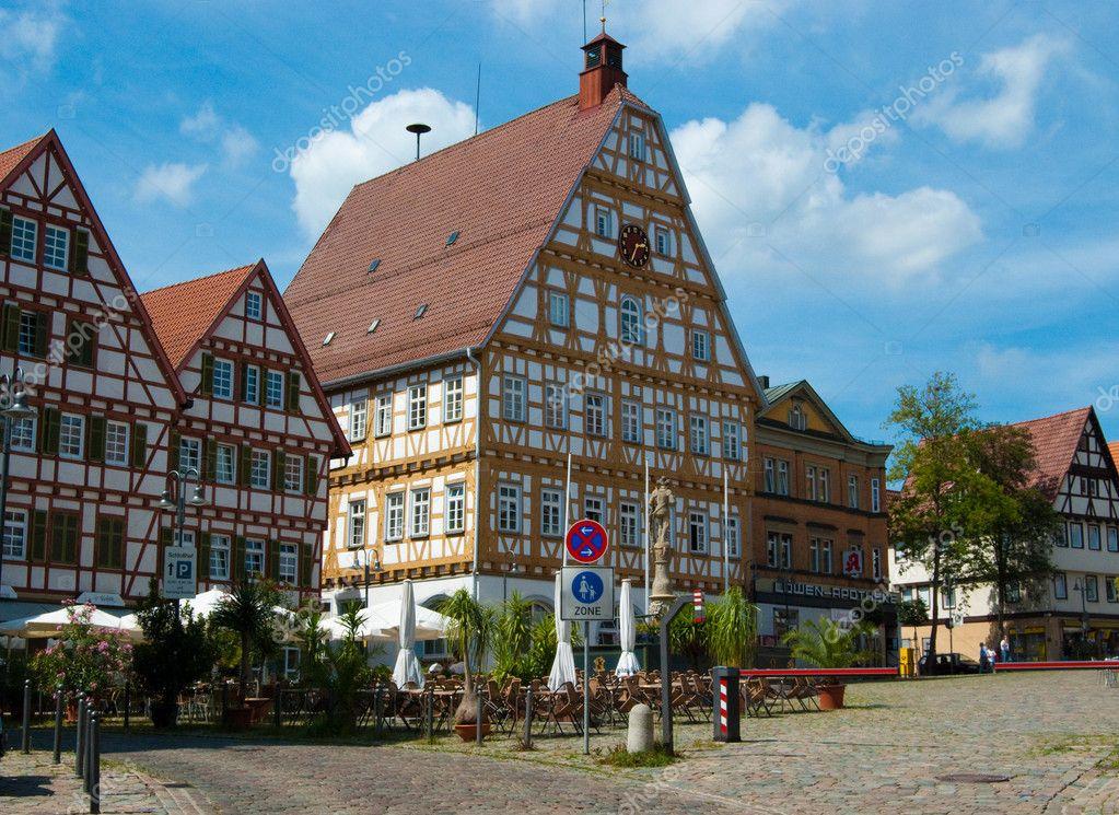 Central square in Stuttgart - Leonberg