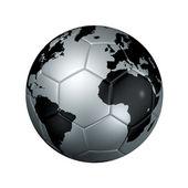 Silber Soccer Fußball Ball Weltkugel