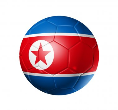 Soccer football ball with north Korea fl