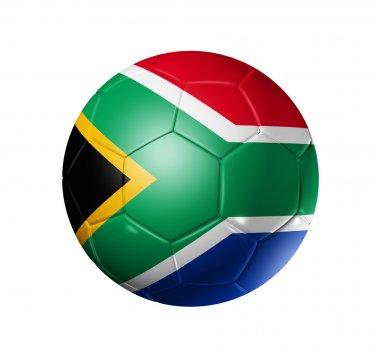 Soccer football ball with south africa f