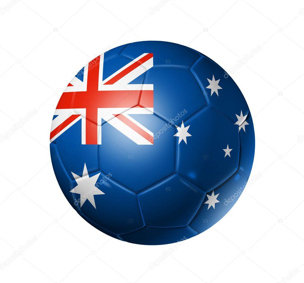 Футбол футбольний м яч з прапор Австралії — Стокове фото — Гра ... 86752fd0c746c