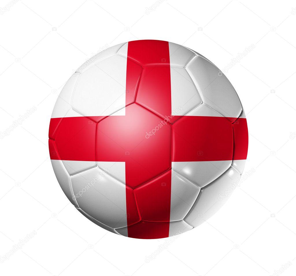 Футбол футбольний м яч з прапор Англії — Стокове фото — Гра ... fec486a32ff2d