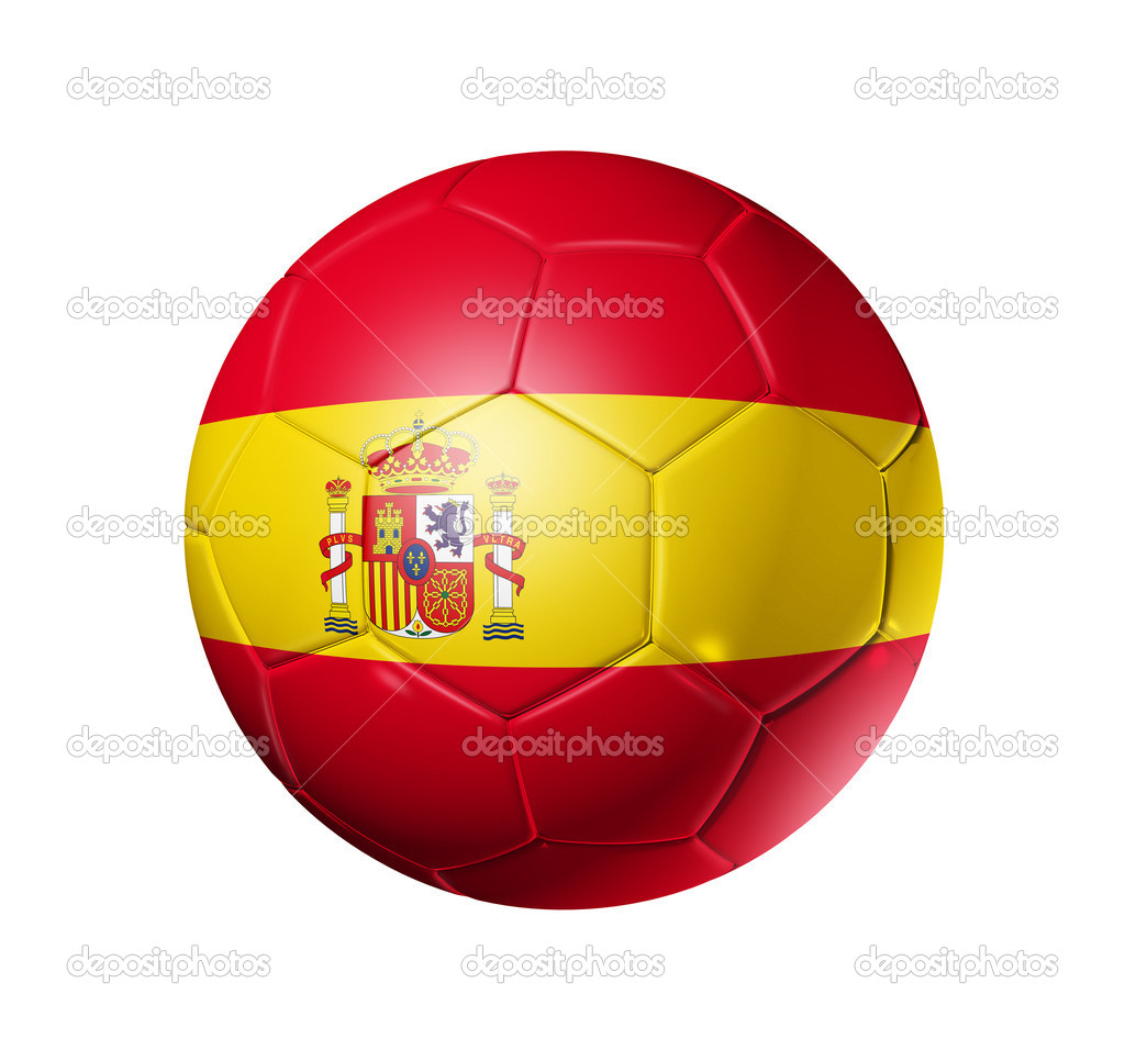 9d951d23824 Soccer football ball with Spain flag — Stock Photo © daboost  2071265