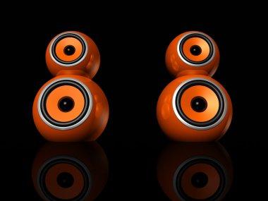 Orange speaker balls