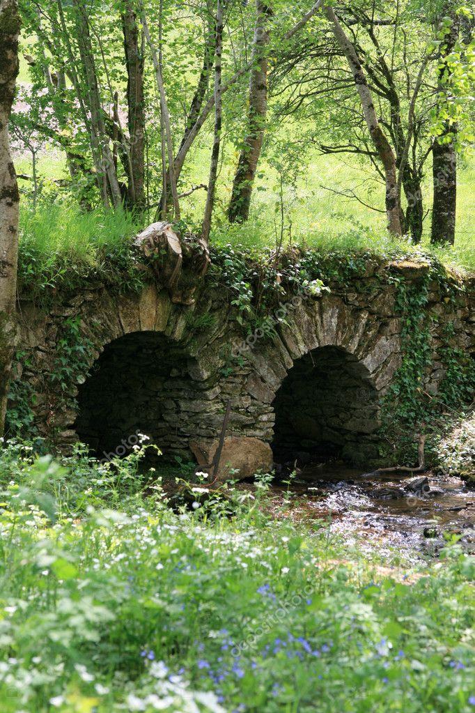 Little bridge on a river