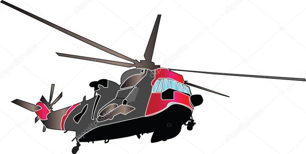 Ilustración de helicóptero — Vector de stock © vule46 #2141592
