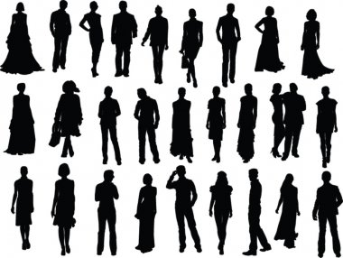 Fashion week collection silhouette