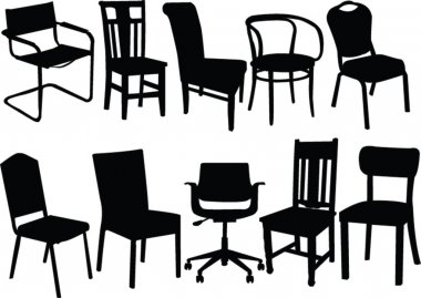 Chair illustration collection - vector stock vector