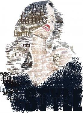 """Картина, постер, плакат, фотообои """"слово женщина """", артикул 2376029"""