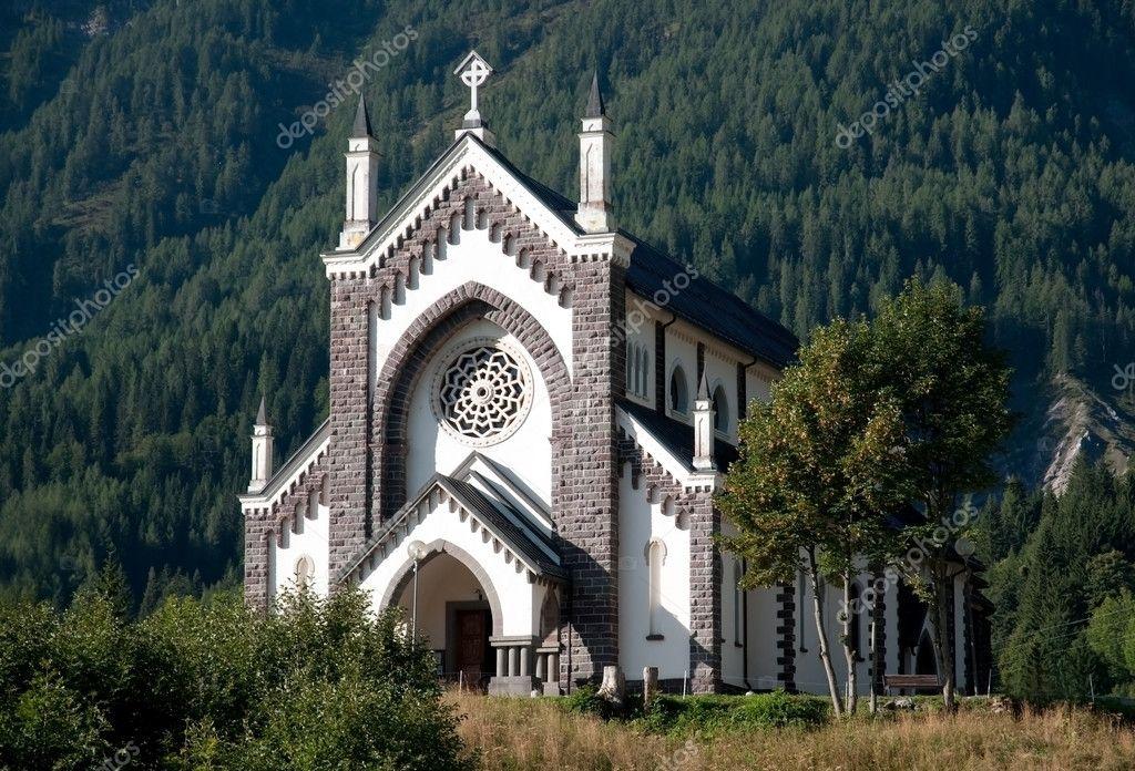 Small Italian church - Dolomites, Italy