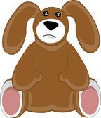 peluche di cane cucciolo triste