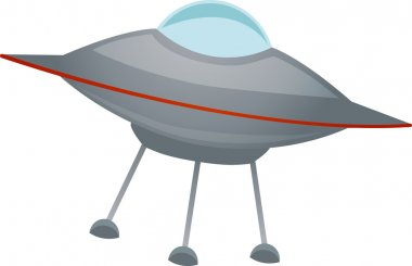 Isolated spaceship at an angle Vector