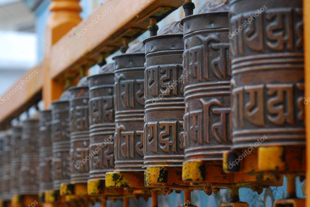 Tibetan Buddhism prayer wheels