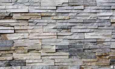 Slate Stone wall background, old facade