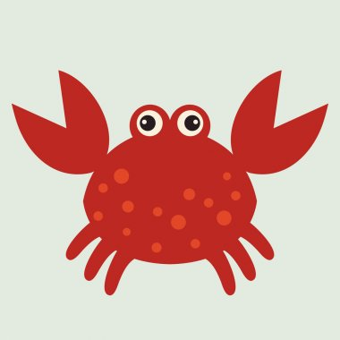 Vector red crab