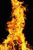 Flying orange flame