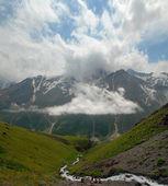 hory, mraky