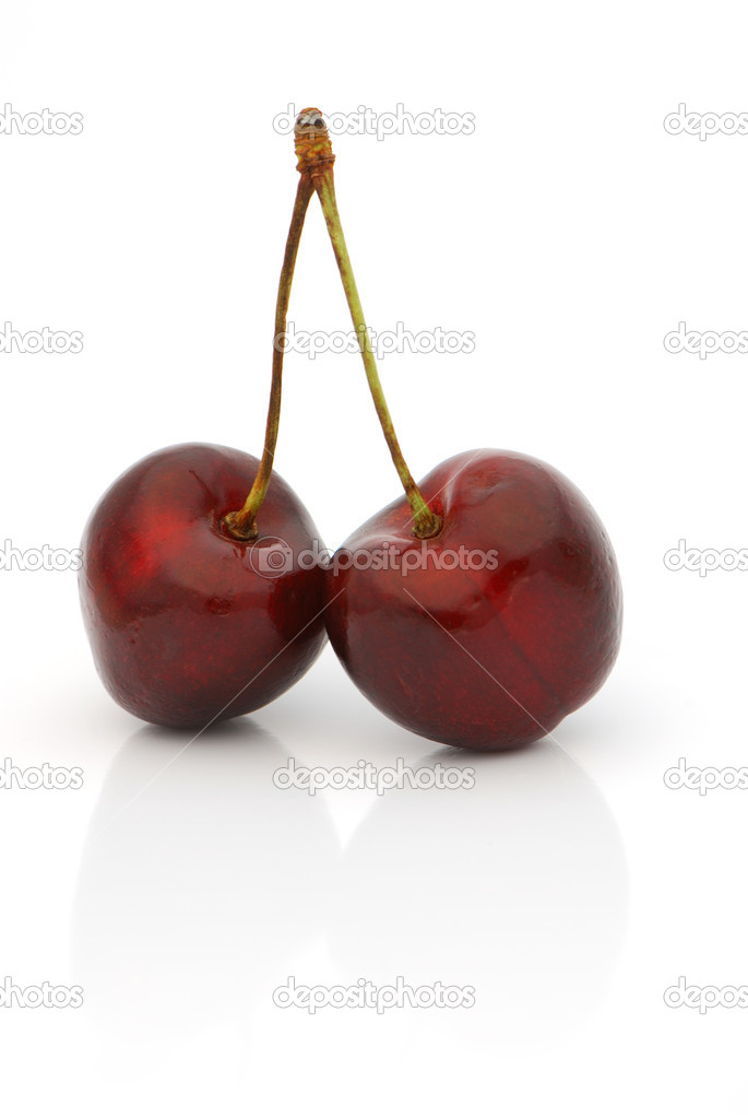 Twin black cherries